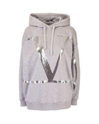 Valentino Gray Cotton Sweatshirt