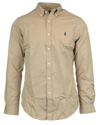 Ralph Lauren Natural Cotton Shirt for men