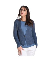 Fabiana Filippi - Blue Cotton Cardigan - Lyst