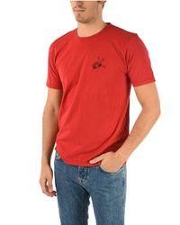 Saint Laurent BAUMWOLLE T-SHIRT in Red für Herren