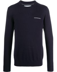 Calvin Klein Blue Cotton Sweatshirt for men