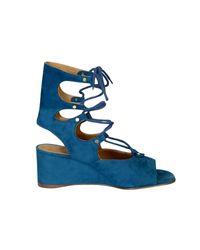 Chloé Blue Suede Sandals