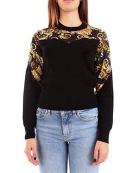 Versace Jeans Black Viscose Sweater