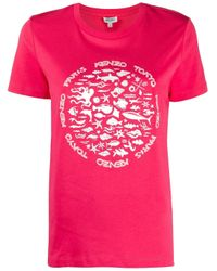 KENZO Pink FUCHSIA T-SHIRT