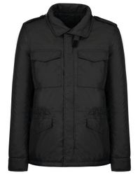 Aspesi Black Polyester Outerwear Jacket for men