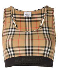 Burberry Natural BEIGE POLYAMID TOP