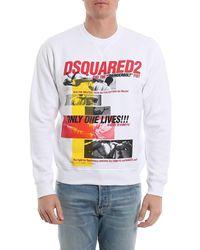 DSquared² WEISS SWEATSHIRT in Multicolor für Herren
