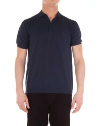 Heritage Blue Cotton Polo Shirt for men