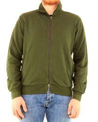 Sun 68 Green Cotton Sweatshirt for men