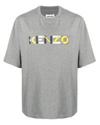 KENZO Gray Cotton T-shirt for men