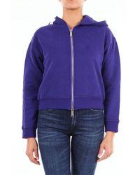 DSquared² Purple BAUMWOLLE SWEATSHIRT