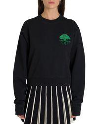 Off-White c/o Virgil Abloh Black Cotton Sweatshirt