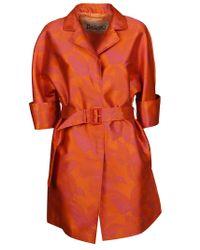 Herno Orange Polyamide Trench Coat