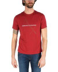 Armani Exchange Red Cotton T-shirt for men