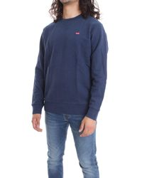 Levi's Blue Cotton Sweatshirt for men