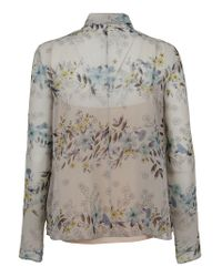 RED Valentino Gray MULTICOLOUR BLUSE