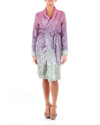 ACTUALEE Purple POLYESTER KLEID