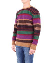 Altea Brown 1861086violet Wool Sweater for men