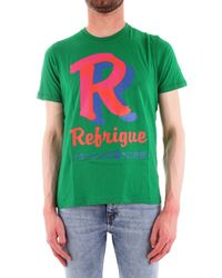 Refrigue Green Cotton T-shirt for men