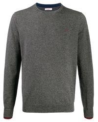 Sun 68 Gray Wool Sweater for men