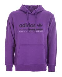 Adidas Purple Cotton Sweatshirt for men