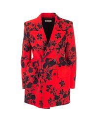 Balenciaga Red Wool Blazer