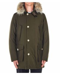 Woolrich Green Down Jacket for men