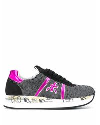 Premiata Gray Leather Sneakers