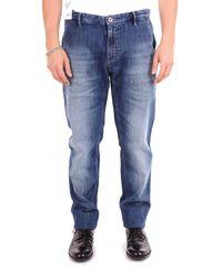 PT01 Blue Cotton Jeans for men