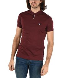 Armani Jeans Red Cotton Polo Shirt for men