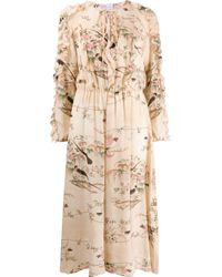 RED Valentino Natural Beige Silk Dress