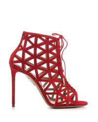 Aquazzura Red Patent Leather Sandals