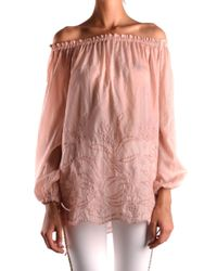 Pinko Pink Cotton Blouse