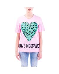 Love Moschino Multicolor ROSA T-SHIRT