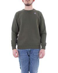 K-Way Green Cotton Sweatshirt for men