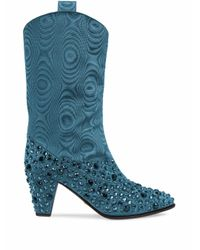 Gucci Blue Viscose Ankle Boots