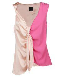 Pinko Pink Polyester Tank Top