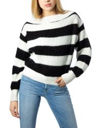 ViCOLO White Polyamide Sweater