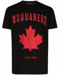 DSquared² BAUMWOLLE T-SHIRT in Black für Herren