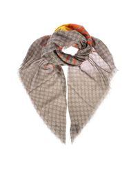 Gucci Natural Beige Silk Scarf for men