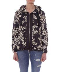 Moncler Black 'Morion' Jacke mit Print