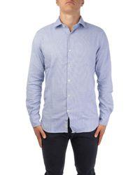 Brooksfield Blue Cotton Shirt for men