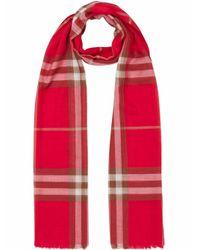 Burberry WOLLE SCHAL in Red für Herren