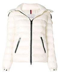 Moncler Natural Beige Polyester Down Jacket