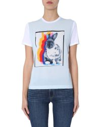 PS by Paul Smith White WEISSES MODAL T-SHIRT