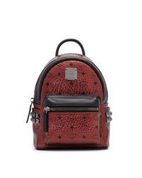 MCM | Red Small Stark Backpack | Lyst