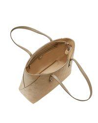 MCM Natural Klara Top Zip Shopper In Monogram Leather