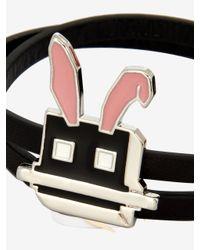 McQ - Metallic Electro Bunny Mini Wrap Bracelet - Lyst