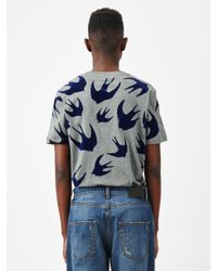 McQ Alexander McQueen - Gray Swallow Swarm T-shirt for Men - Lyst