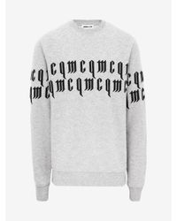 McQ Alexander McQueen Gray Mcq Repeat Logo Sweatshirt for men